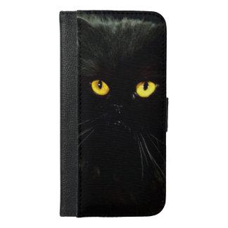 Coque Avec Portefeuille Pour iPhone 6 Plus Chat noir