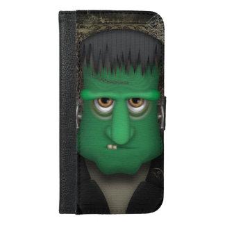 Coque Avec Portefeuille Pour iPhone 6 Plus Costume drôle de Frankenstein Halloween