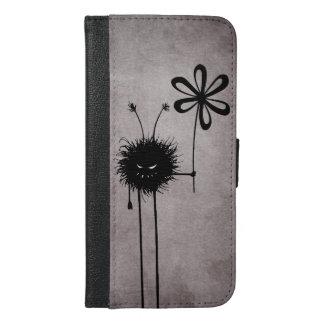 Coque Avec Portefeuille Pour iPhone 6 Plus Cru mauvais d'insecte de fleur