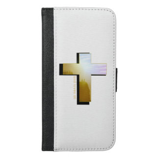 Coque Avec Portefeuille Pour iPhone 6 Plus Dieu aime tout le cas de téléphone