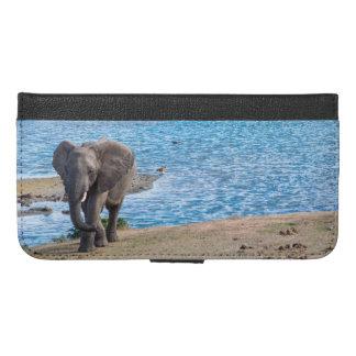 Coque Avec Portefeuille Pour iPhone 6 Plus Éléphant sur le lac