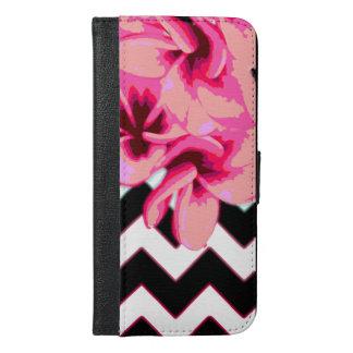 Coque Avec Portefeuille Pour iPhone 6 Plus Fleurs de Chevron