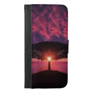 Coque Avec Portefeuille Pour iPhone 6 Plus iPhone 6/6s de vue de lac de coucher du soleil