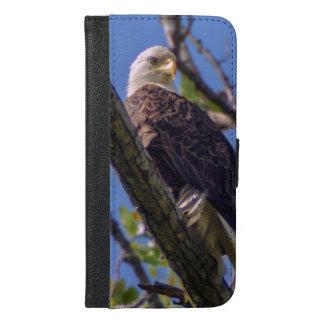 Coque Avec Portefeuille Pour iPhone 6 Plus iPhone 6/6s d'Eagle chauve plus le cas