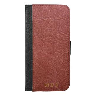 Coque Avec Portefeuille Pour iPhone 6 Plus iPhone rouge sang personnalisé 6/6s plus la caisse