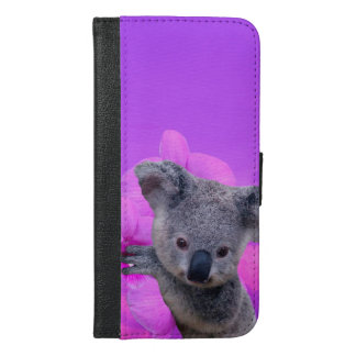Coque Avec Portefeuille Pour iPhone 6 Plus Koala et orchidées