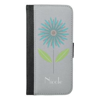 Coque Avec Portefeuille Pour iPhone 6 Plus La fleur moderne conçoivent la caisse en fonction