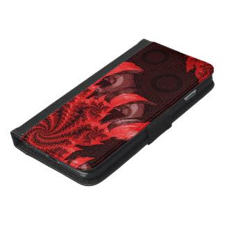 Coque Avec Portefeuille Pour iPhone 6 Plus Le rouge, noir, et Bladed Garra del Diablo
