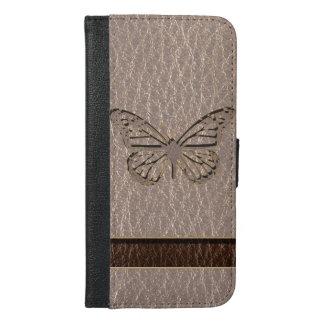 Coque Avec Portefeuille Pour iPhone 6 Plus Papillon simili cuir mou