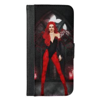 Coque Avec Portefeuille Pour iPhone 6 Plus Succube rouge