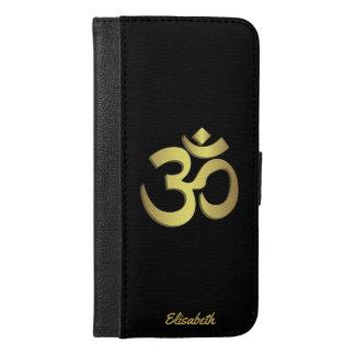 Coque Avec Portefeuille Pour iPhone 6 Plus Symbole de yoga de l'OM (Aum) Namaste