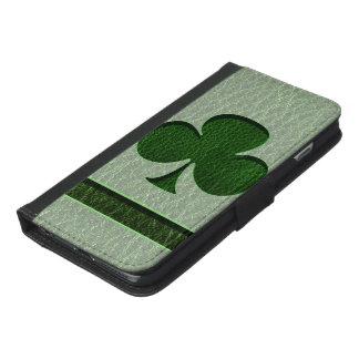 Coque Avec Portefeuille Pour iPhone 6 Plus Trèfle irlandais simili cuir