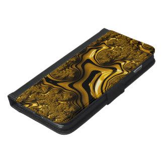 Coque Avec Portefeuille Pour iPhone 6 Plus Une main de fractale de chocolat du lait dans le