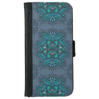 Coque Avec Portefeuille Pour iPhone 6 Raven des miroirs, rêves, bohémien, chaman