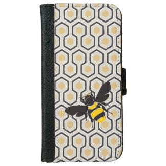Coque Avec Portefeuille Pour iPhone 6 Rétro ruche de motif de nid d'abeilles