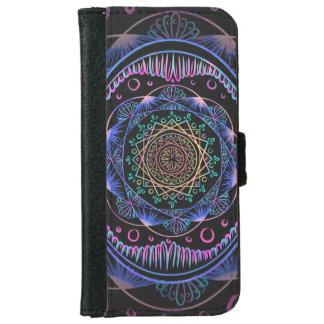 Coque Avec Portefeuille Pour iPhone 6 Réveil du motif de zen, reiki, guérissant, chakra