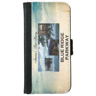 Coque Avec Portefeuille Pour iPhone 6 Route express bleue d'ABH Ridge