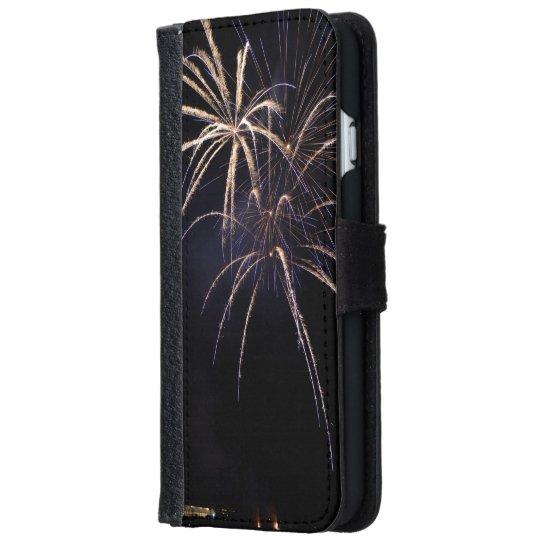 Coque Avec Portefeuille Pour iPhone 6 Small fireworks