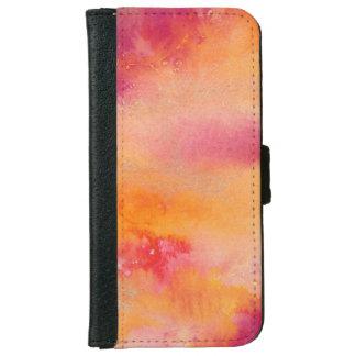 Coque Avec Portefeuille Pour iPhone 6 Touché par couleur pour aquarelle du feu