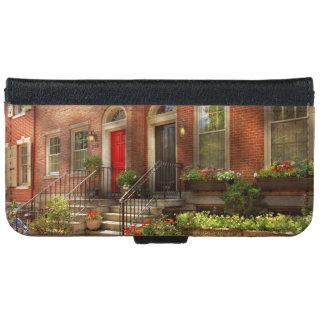 Coque Avec Portefeuille Pour iPhone 6 Ville - PA Philadelphie - jolie Philadelphie