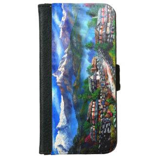 Coque Avec Portefeuille Pour iPhone 6 Vue panoramique de montagne Népal d'Everest