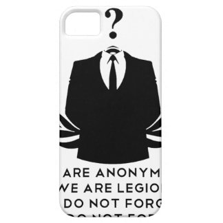 Coque Barely There iPhone 5 Anonymous