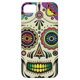 Coque Barely There iPhone 5 Art d'Aztèque de crâne de sucre