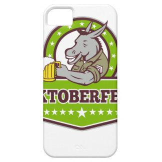 Coque Barely There iPhone 5 Buveur de bière d'âne Oktoberfest rétro