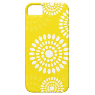 Coque Barely There iPhone 5 Caisse jaune de l'iPhone 5 de fleurs d'été