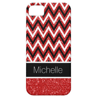 Coque Barely There iPhone 5 Caisse rouge faite sur commande de l'iPhone 5 de