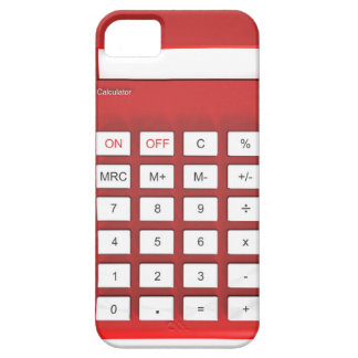 Coque Barely There iPhone 5 Calculatrice rouge de calculatrice