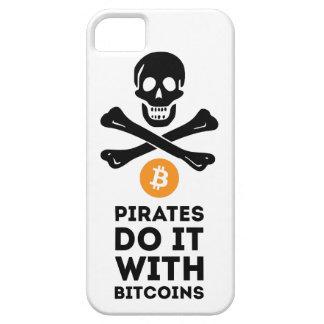 Coque Barely There iPhone 5 Cas de pirate de Bitcoin