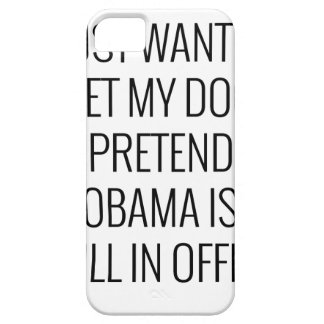 Coque Barely There iPhone 5 Chien Obama