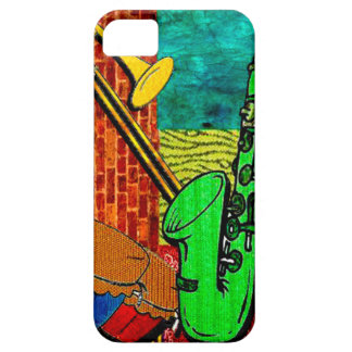 Coque Barely There iPhone 5 Collage terreux de jazz