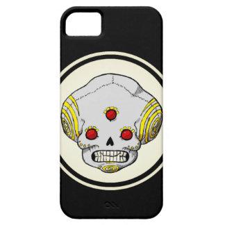 Coque Barely There iPhone 5 Crâne observé par trois