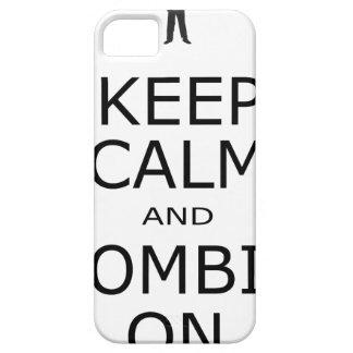 COQUE BARELY THERE iPhone 5 GARDEZ LE ZOMBI CALME DESSUS