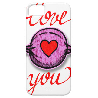 Coque Barely There iPhone 5 Je t'aime (sucrerie rose)