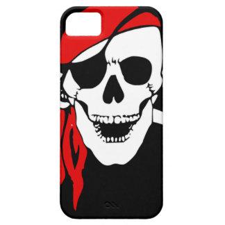 Coque Barely There iPhone 5 Le drapeau de pirate désosse le symbole de danger