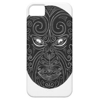 Coque Barely There iPhone 5 Masque maori Scratchboard