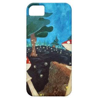 Coque Barely There iPhone 5 nuit trippy dans les bois