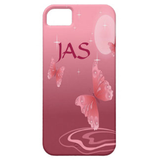 Coque Barely There iPhone 5 Papillons roses