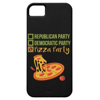 Coque Barely There iPhone 5 Partie de pizza - vote drôle de nouveauté