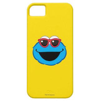 Coque Barely There iPhone 5 Visage de sourire de biscuit avec des lunettes de