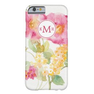 Coque Barely There iPhone 6 Ajoutez votre marguerite blanche du monogramme  