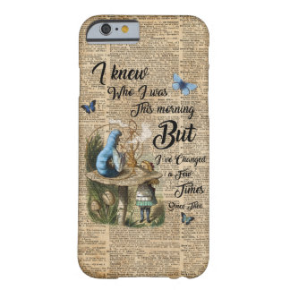 Coque Barely There iPhone 6 Alice dans l'art vintage de dictionnaire de