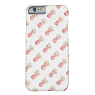 Coque Barely There iPhone 6 Ananas | rose tropical