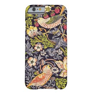 Coque Barely There iPhone 6 Art floral Nouveau de voleur de fraise de William