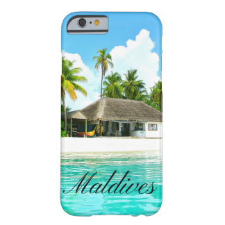 Coque Barely There iPhone 6 Beau paysage des Maldives
