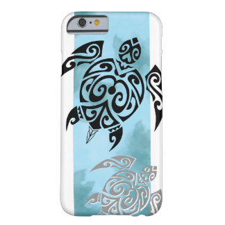 Coque Barely There iPhone 6 Black turtle 2 in blue