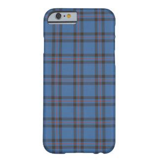 Coque Barely There iPhone 6 Bleu de clan d'Elliot et tartan de Brown